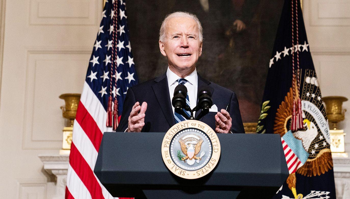 Biden zakpił z dziennikarza, który pytał o rozmowę z Putinem (fot. PAP/EPA/Anna Moneymaker / POOL)