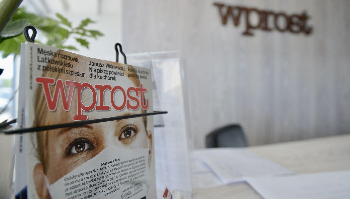 """Ostatni numer drukowany """"Wprost"""" ukaże się w najbliższy poniedziałek, 30 marca (fot. arch.PAP/Radek Pietruszka)"""