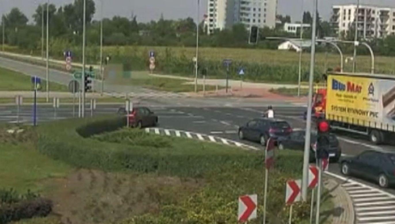 Rondo Wojska Polskiego w Płocku (fot. Policja mazowiecka)