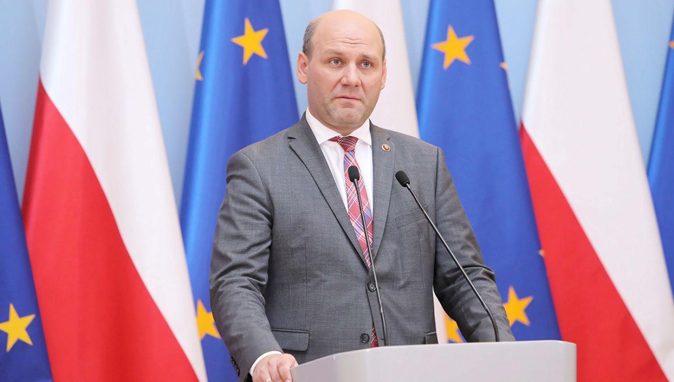 Wiceminister spraw zagranicznych Szymon Szynkowski vel Sęk (fot. PAP/Wojciech Olkuśnik)