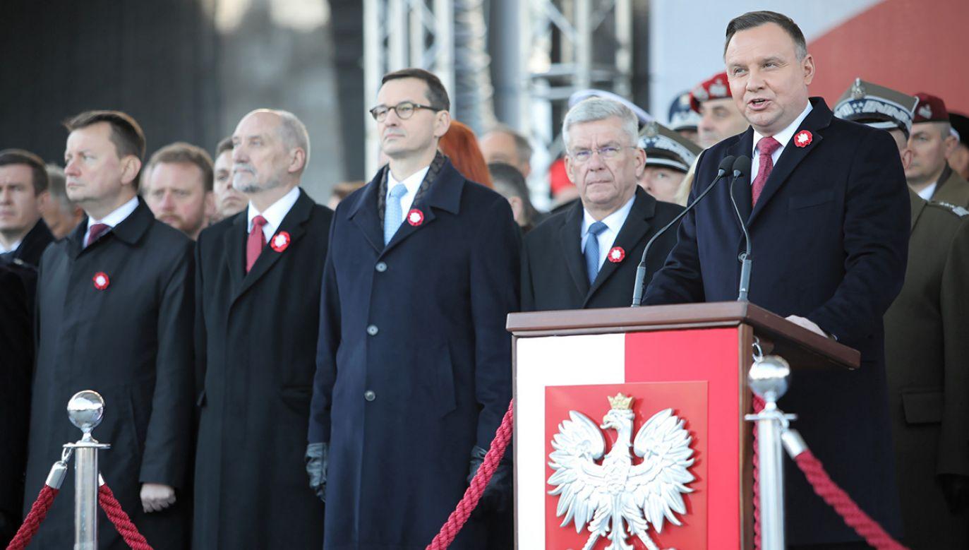 Trwają uroczystości 101. rocznicy odzyskania przez Polskę niepodległości (fot. PAP/Leszek Szymański)