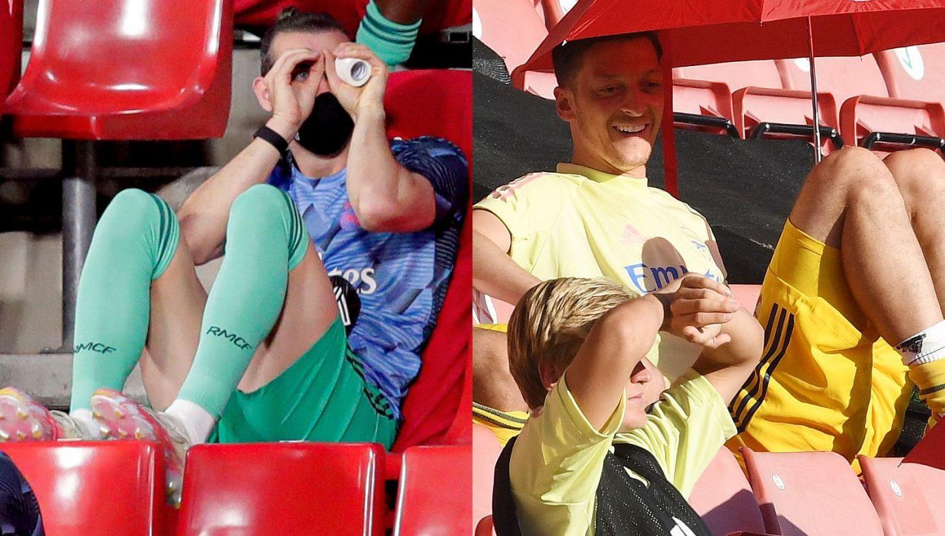 Gareth Bale i Mesut Oezil z przesiadywania na trybunach zrobili sposób na życie (fot. Getty)