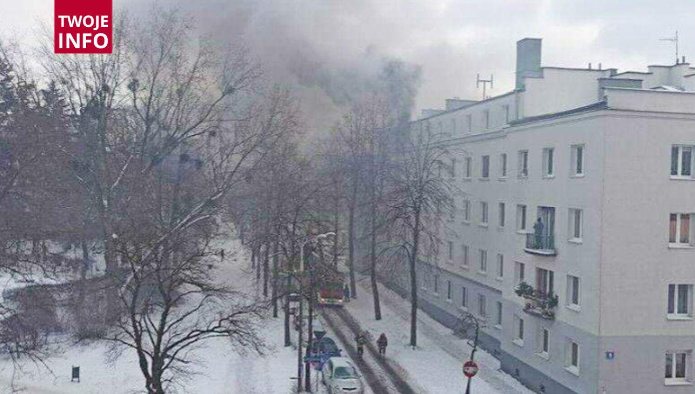 Pożar na ulicy Łukasińskiego w Łodzi (fot.Twoje Info)