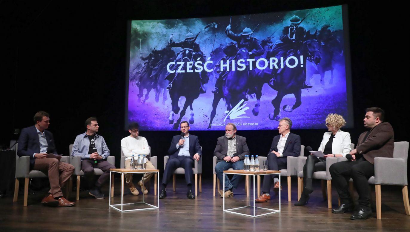 – Mamy jedną z najdłuższych państwowości w Europie, a nawet na świecie, trwającą ponad 1000 lat – powiedział premier (PAP/Tomasz Gzell)