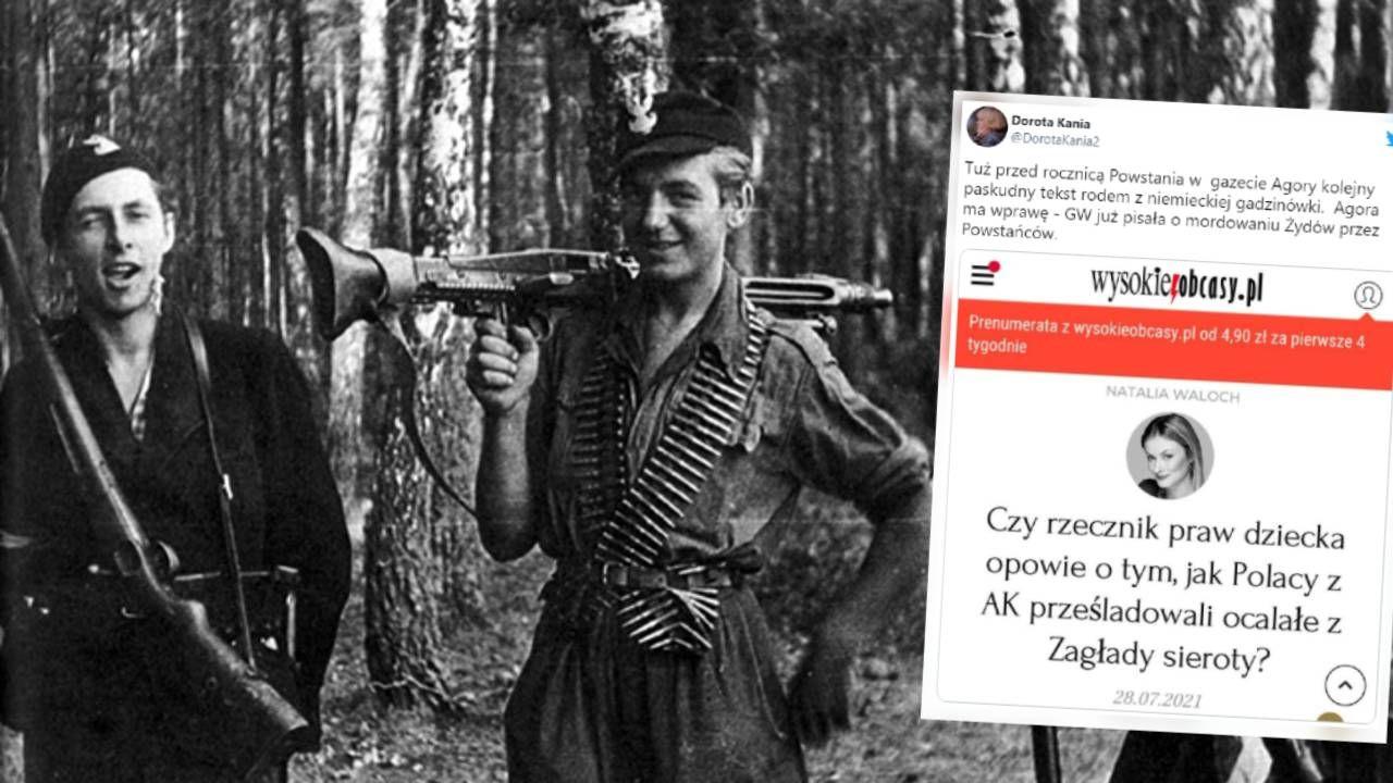 """""""W gazecie Agory kolejny paskudny tekst rodem z niemieckiej gadzinówki""""  (fot. IPN/TT)"""