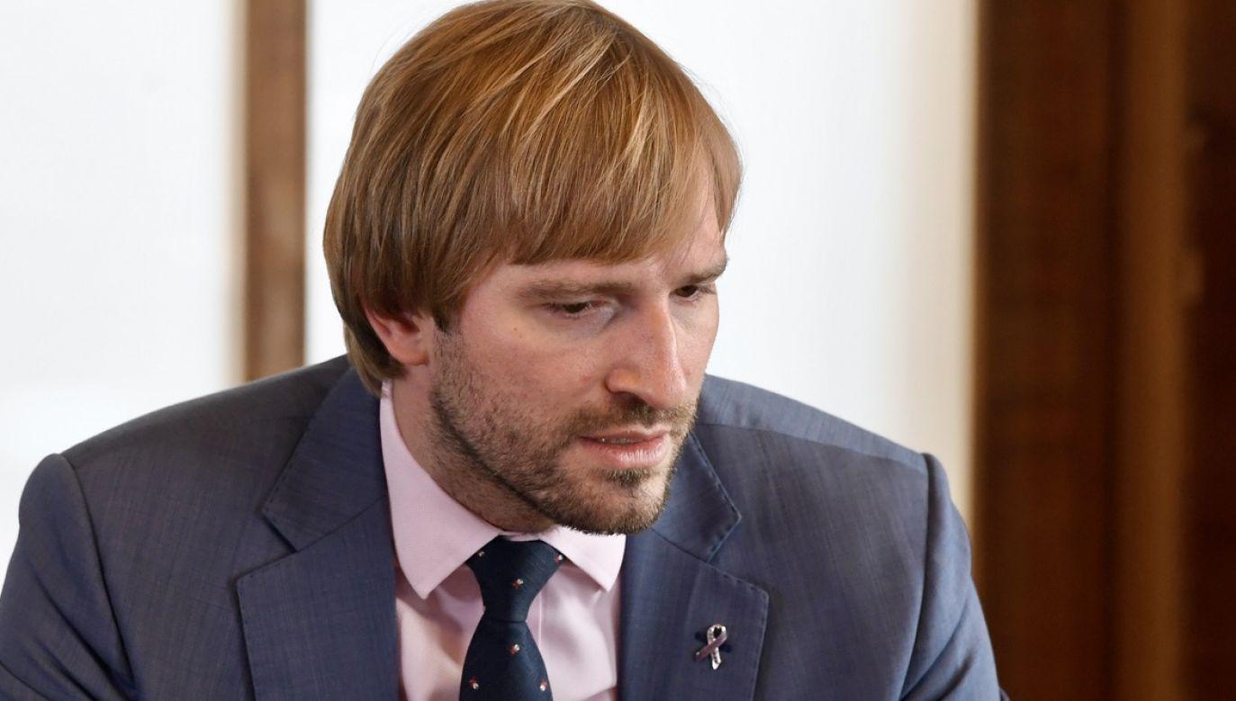 Minister zdrowia Czech Adam Vojtiech zrezygnował ze stanowiska (fot. arch.PAP/CTK)