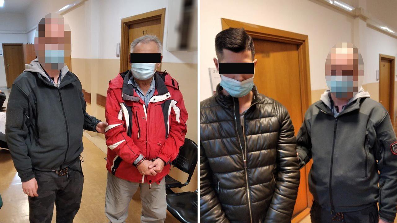 Do sprawy zatrzymany został również mąż wnuczki 72-latka (fot. Policja)