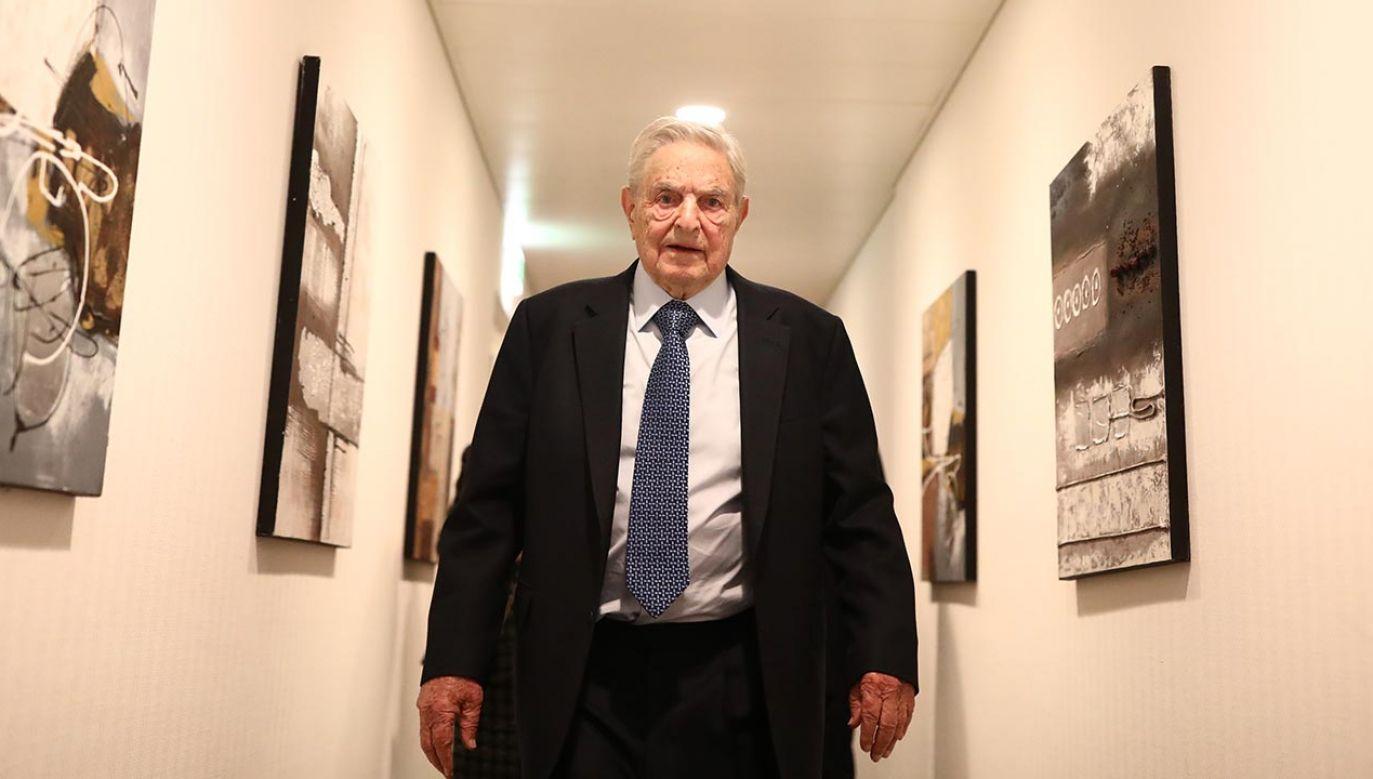 Finansista o lewicowych poglądach George Soros (fot. Simon Dawson/Bloomberg via Getty Images)