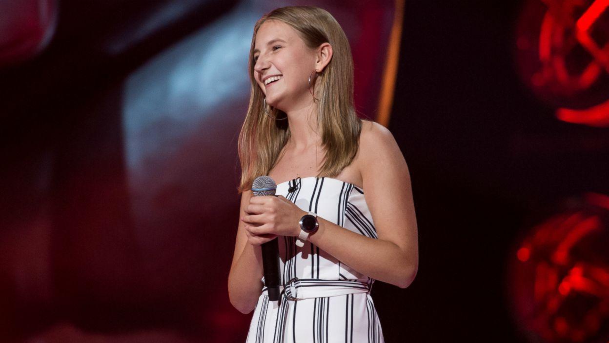Jasmina Szymańska na scenie dała niezłego czadu. Walczyli o nią Cleo i Dawid. Kogo wybrała? (fot. J. Bogacz/TVP)