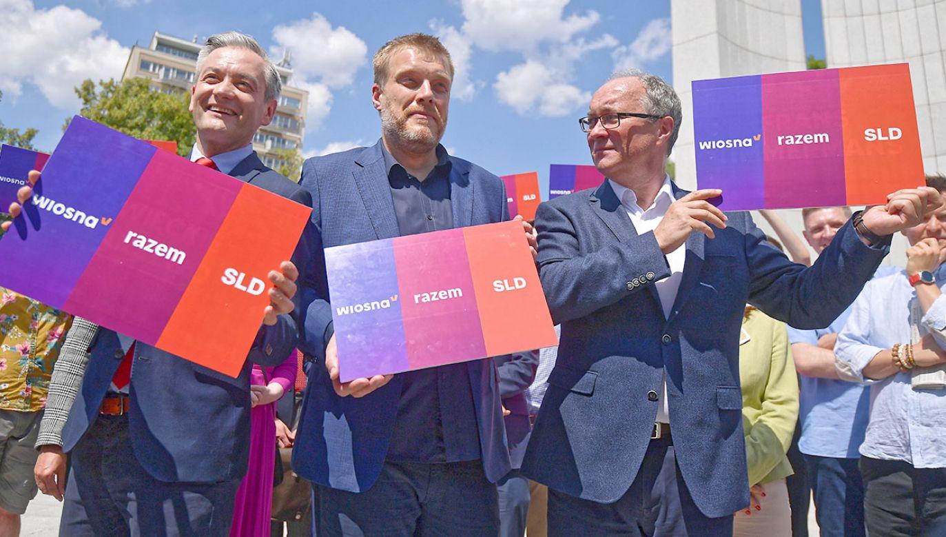 SLD, Wiosna i Lewica Razem idą do wyborów wspólnie jako Lewica (fot. PAP/Marcin Obara)