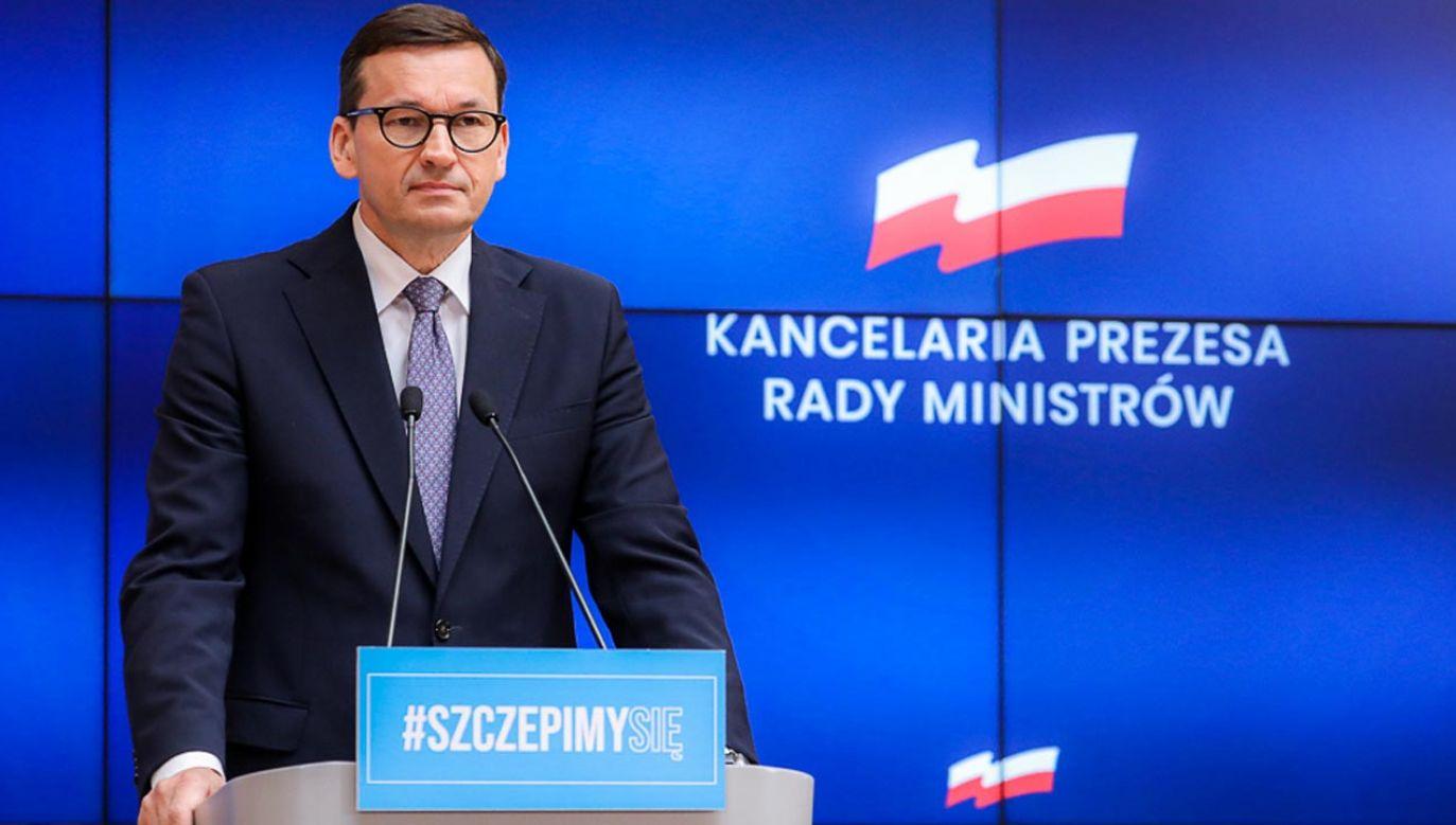 Premier nt. cyberprzestępczości (fot. Adam Guz/KPRM)