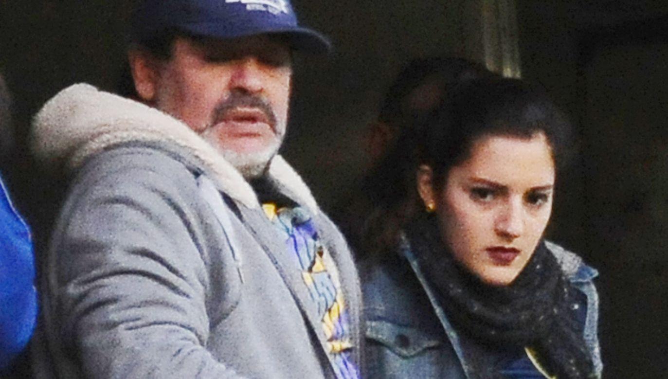 Diego Maradona z córką Gianniną (fot. Amilcar Orfali/LatinContent/ Getty Images)