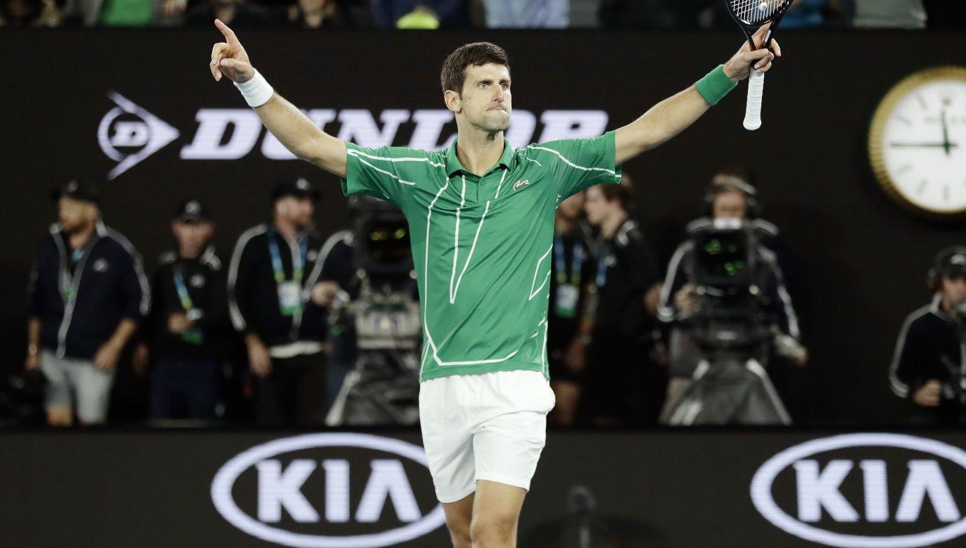 Novak Djoković nie schodzi z tenisowego szczytu (fot. PAP/EPA)