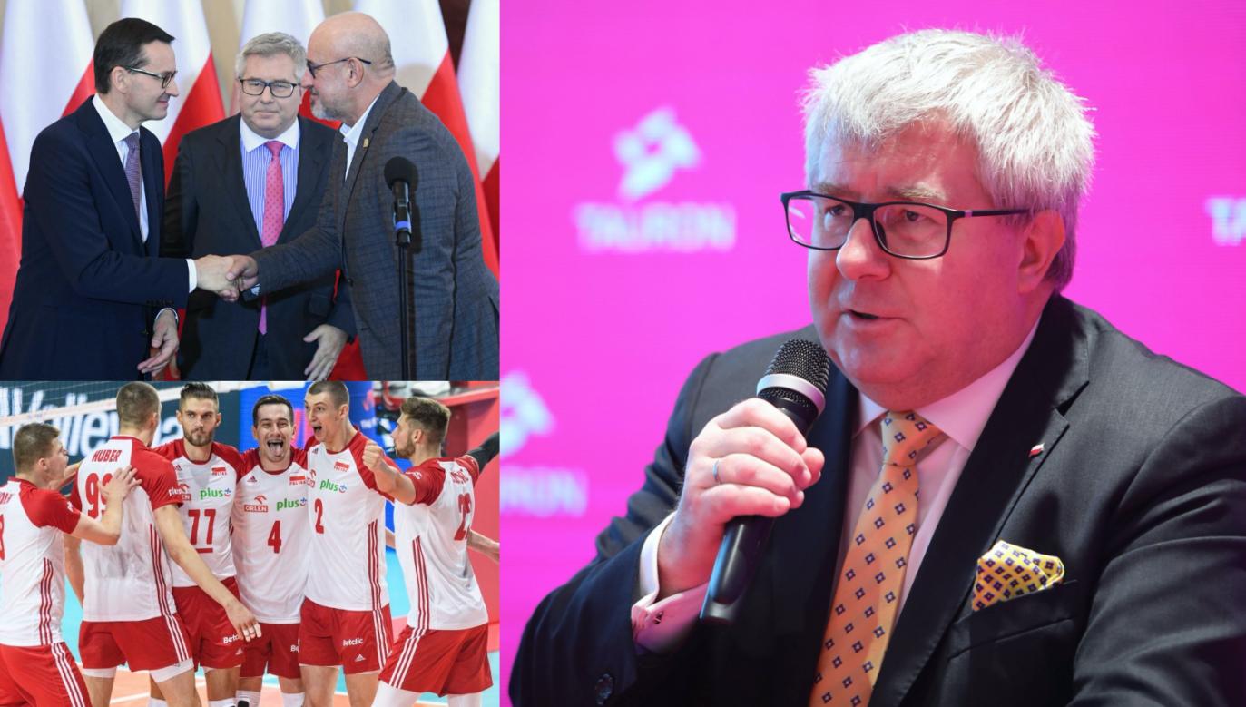Ryszard Czarnecki jest wiceprezesem Polskiego Związku Piłki Siatkowej (fot. PAP)