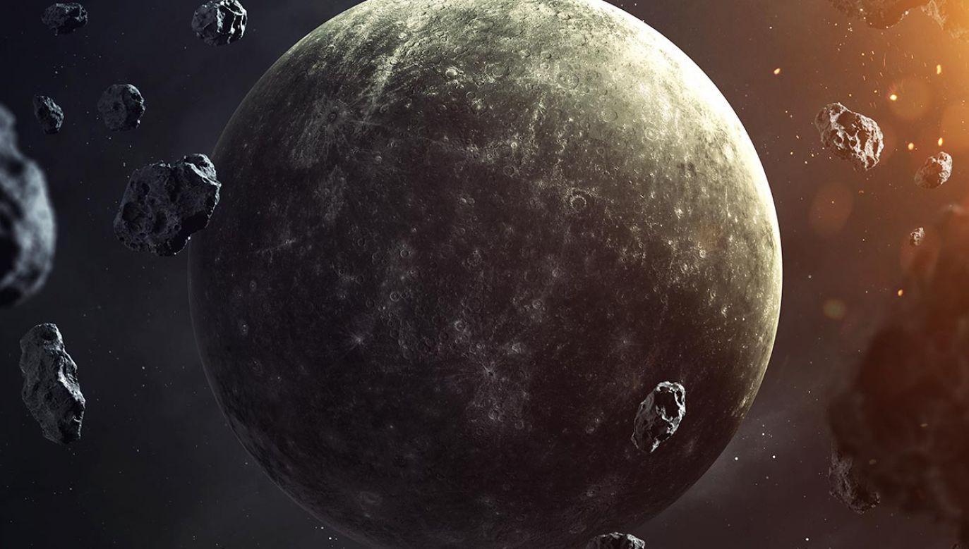 Sonda BepiColombo nad Merkurym (fot. Shutterstock)