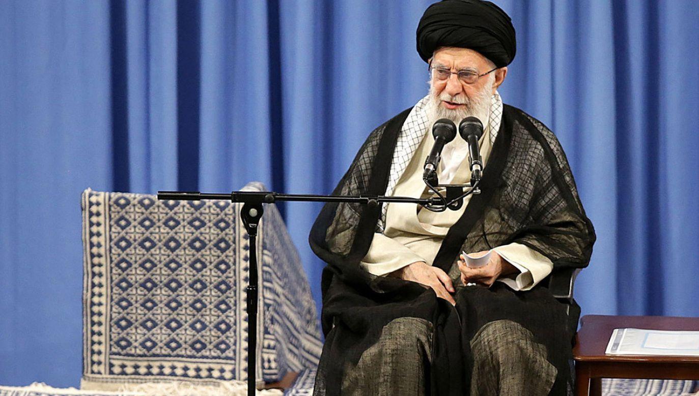 Ali Chamenei irański duchowny i polityk (fot. PAP/EPA/SUPREME LEADER OFFICE / HANDOUT)