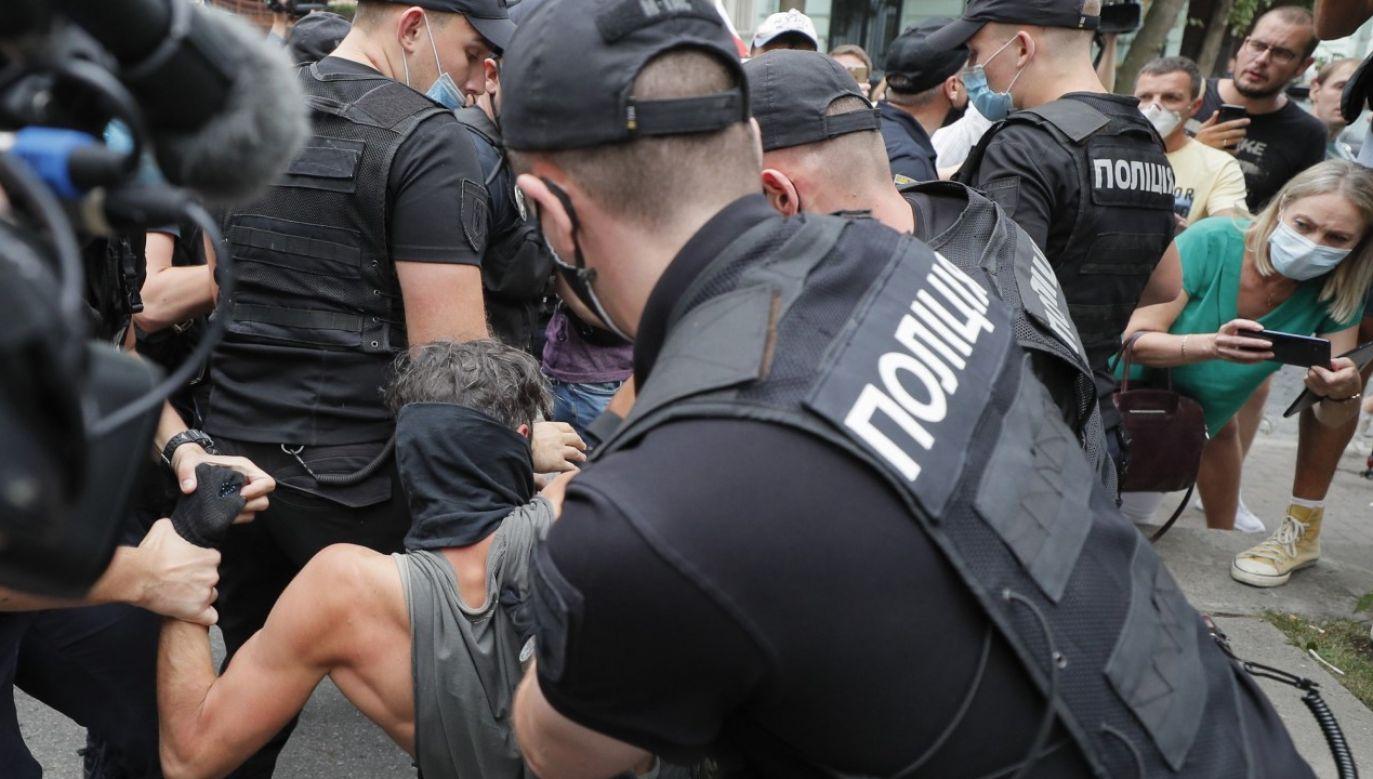 Ministrowie spraw zagranicznych Polski, Litwy i Ukrainy zaapelowali do władz Białorusi o powstrzymanie sie od stosowania przemocy (fot. PAP/EPA/SERGEY DOLZHENKO)