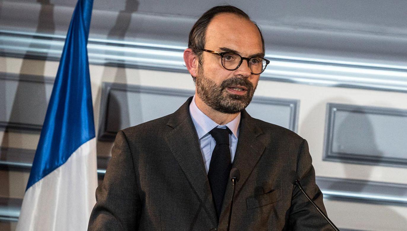 Edouard Philippe kierował francuskim rządem od 2017 roku (fot.  Nicolas Liponne/NurPhoto via Getty Images)