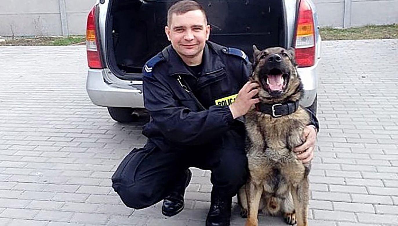 Goran na co dzień służy w Komendzie Powiatowej Policji w Kole (fot. Policja Wielkopolska)