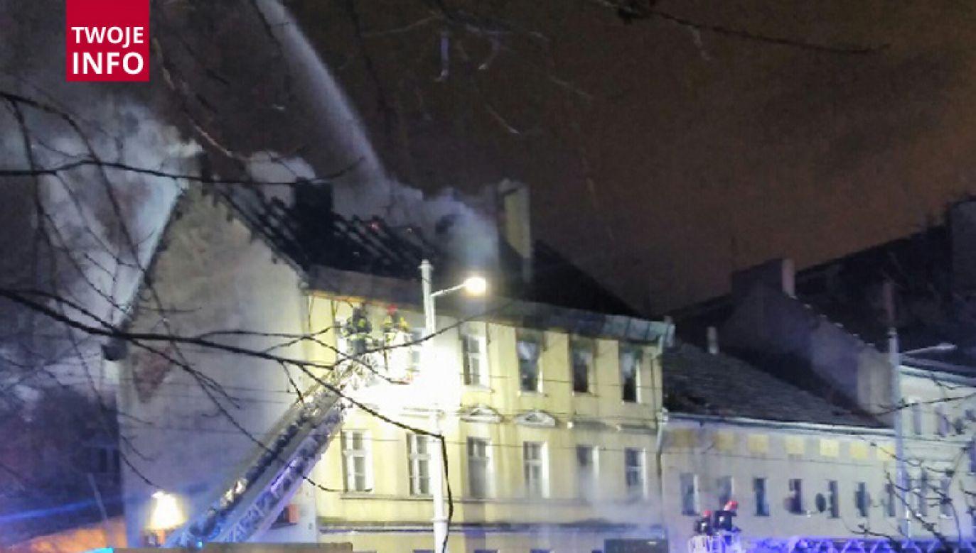 Na miejscu jest 10 zastępów straży pożarnej (fot. Twoje Info)