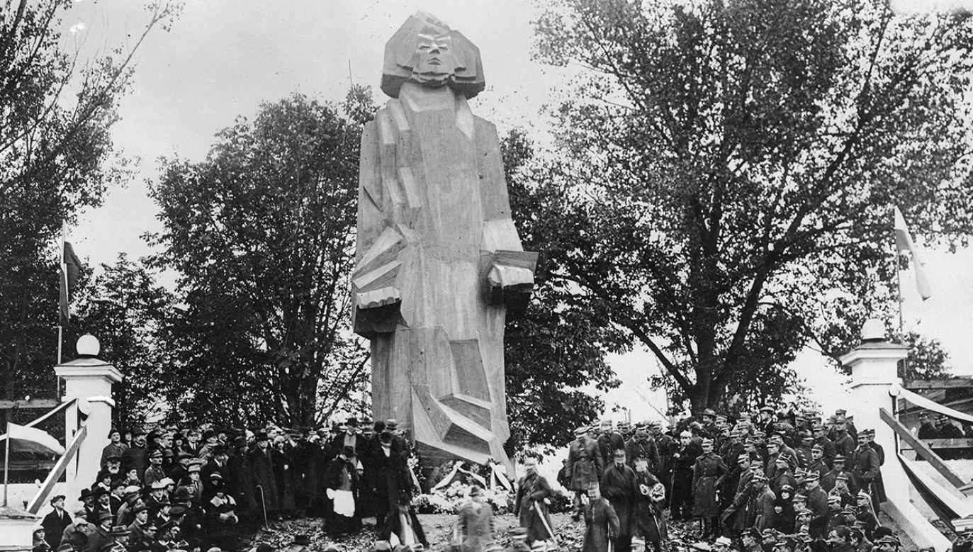 Pomnik Adama Mickiewicza projektu Zbigniewa Pronaszki miał powstać w Wilnie w latach 20. XX wieku   (fot. NAC)