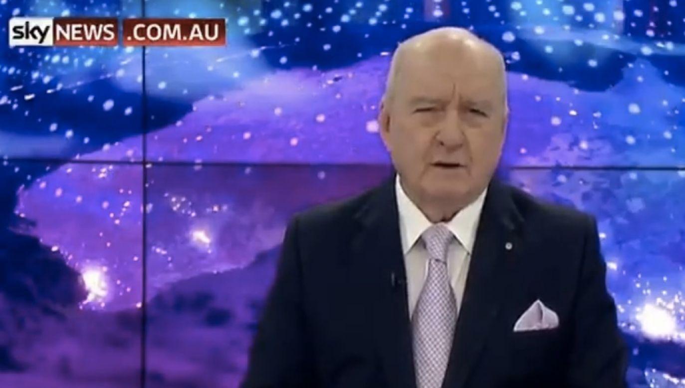 """""""Zróbcie kanapki, zamiast kupować jedzenie w fast foodach"""" – proponuje dziennikarz (fot. screen Sky News Australia)"""