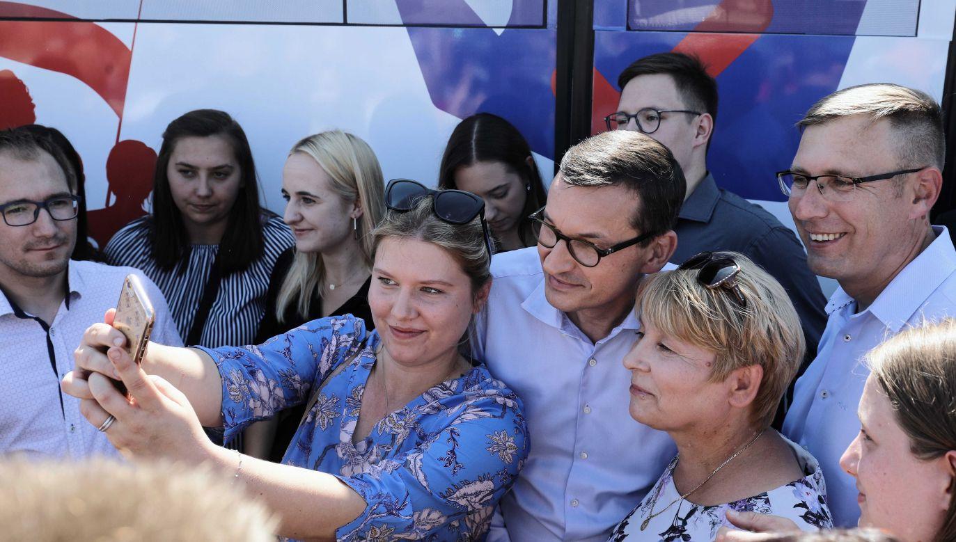 W sobotę premier Mateusz Morawiecki pojawi się na dwóch konwencjach regionalnych Prawa i Sprawiedliwości – w Toruniu oraz Bydgoszczy (PAP/Paweł Supernak)