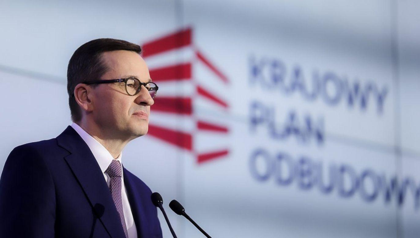 Premier poinformował, że KPO oparty na pięciu filarach (fot. KPRM/Adam Guz0