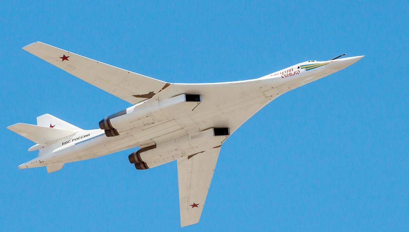 Rosyjski bombowiec strategiczny Tu-160 (fot. Getty Images)