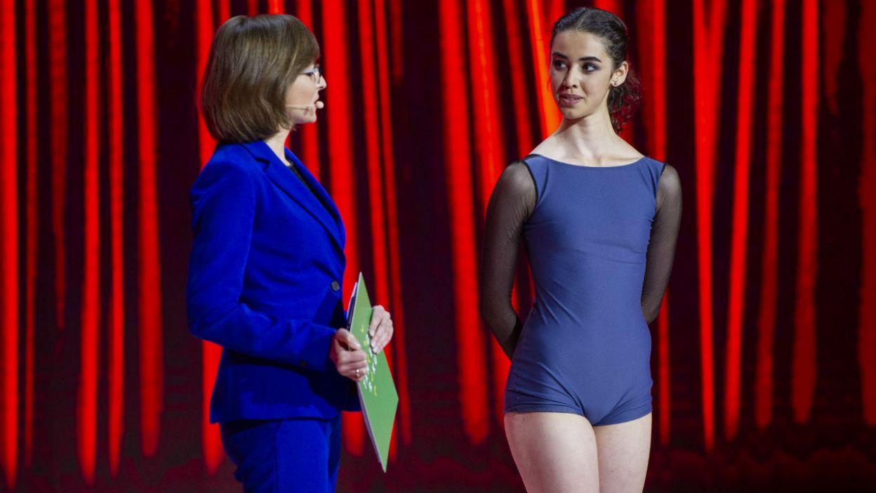 – Przepięknie wykonałaś bardzo trudną choreografię – oceniła Aleksandra Dziurosz. Jurorka miała jednak kilka uwag (fot. N. Młudzik/TVP)