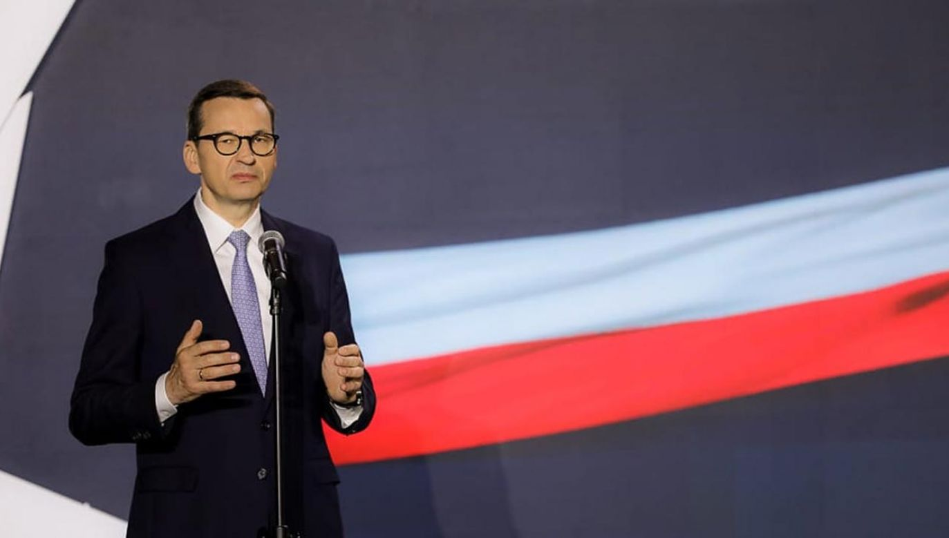 Zdaniem premiera Polski Ład przyczyni siędo powstania setek tysięcy miejsc pracy (fot. Krystian Maj/KPRM)