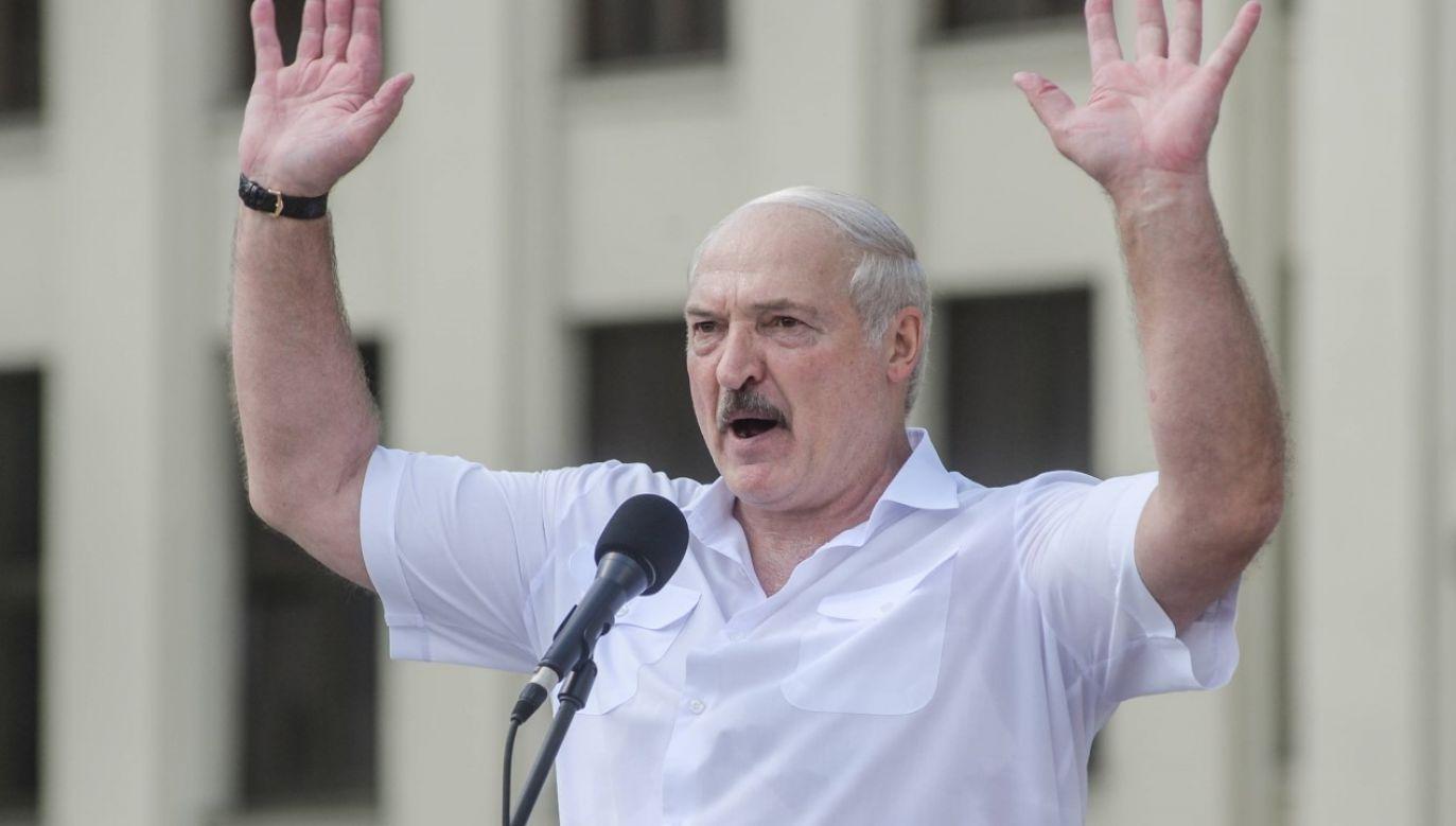 Białoruski dyktator Alaksandr Łukaszenka miał być celem zamachu (fot. arch. PAP/EPA/YAUHEN YERCHAK)