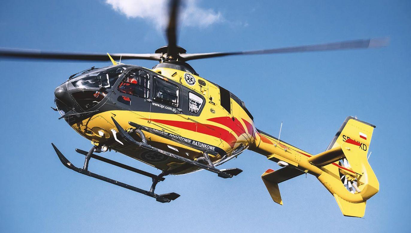 Na miejscu wypadku lądował śmigłowiec LPR (fot. Shutterstock)