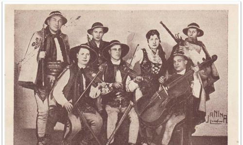 Zespół Michała Piksy - pocztówka wydana we Lwowie – 1937 rok. Fot. arch. Moniki Kurzei