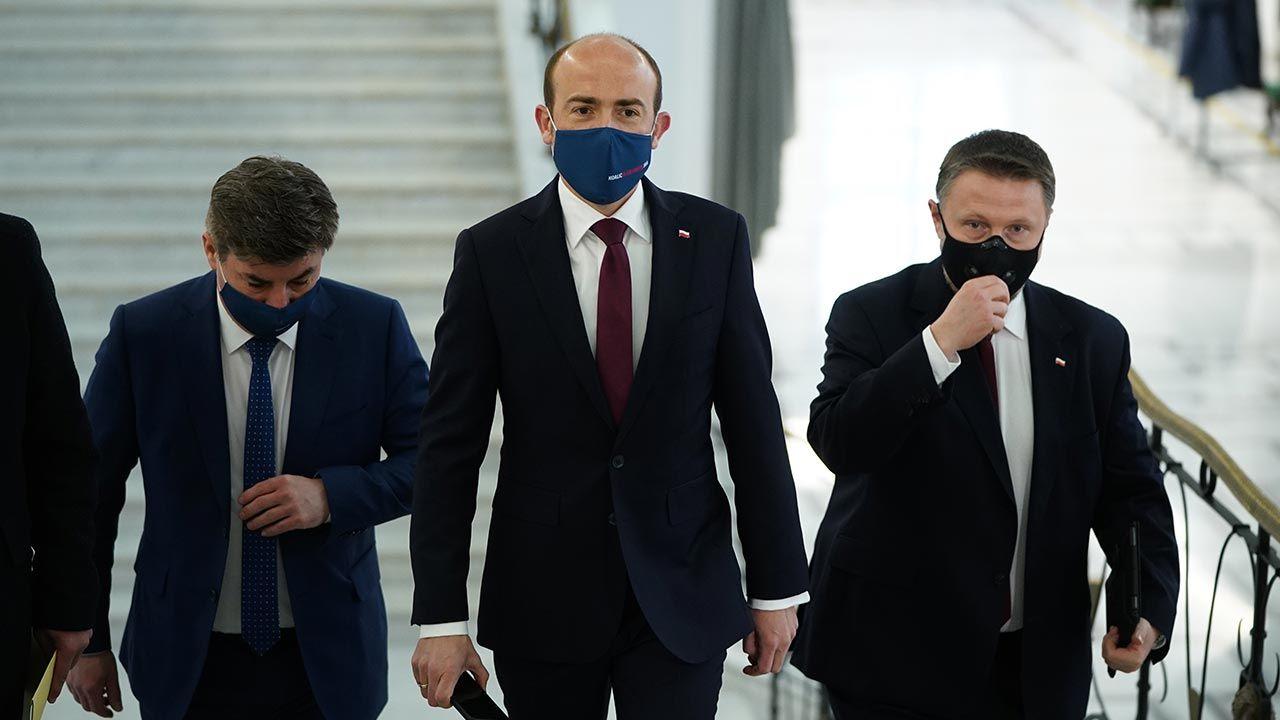 Duży spadek poparcia dla KO (fot. Forum/Mateusz Wlodarczyk)