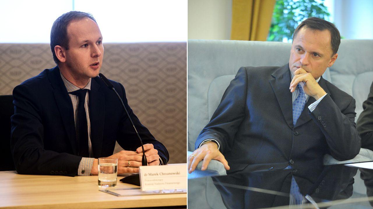 Leszek Czarnecki twierdzi, że szef KNF położył na stole wizytówkę prawnika, którego Czarnecki miałby zatrudnić (fot. arch. PAP/Jakub Kamiński/Szymon Łaszewski)