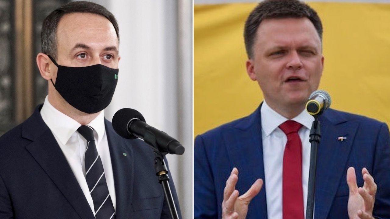 Dariusz Klimczak i Szymon Hołownia (fot. PAP/M.Marek/O.Marques/Getty Images)