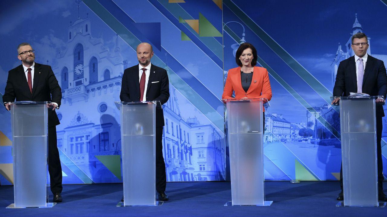 O fotel prezydenta Rzeszowa ubiega się czterech kandydatów (fot. PAP/Darek Delmanowicz)