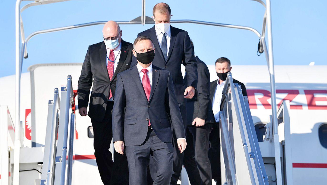 Prezydent Andrzej Duda  będzie rozmawiał bezpośrednio m.in. z Emmanuelem Macronem i Borisem Johnsonem.  (fot. PAP/Radek Pietruszka)