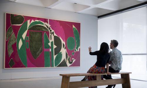 """Lee Krasner – wystawa """"Żywe kolory"""" w Barbican Art Gallery w Londynie, 29 maja 2019 r. Fot. Tristan Fewings / Getty Images dla Barbican Art Gallery"""