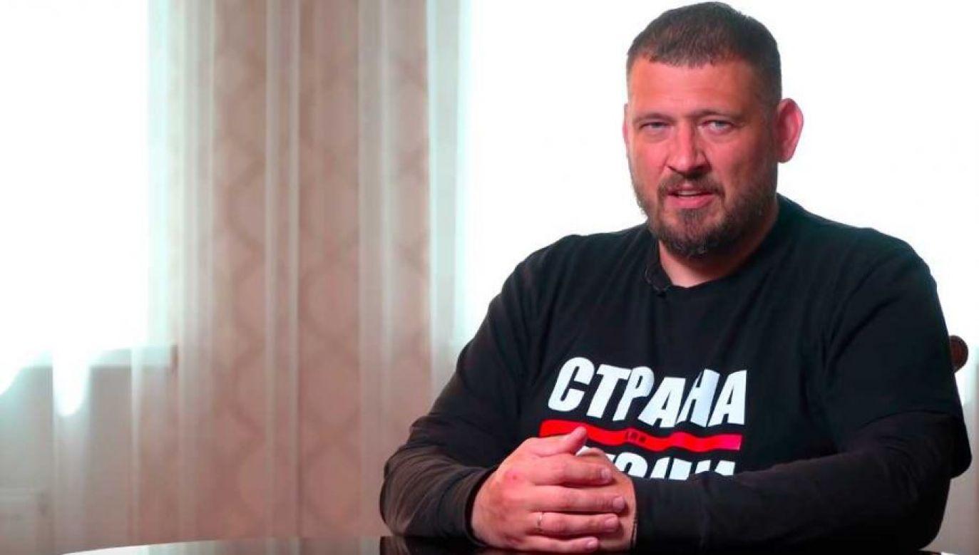 Siarhiej Cichanouski obnaża nadużycia władz (fot. YT)