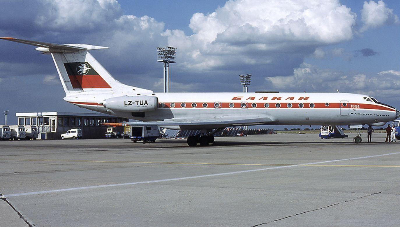 Tu-134 linii lotniczych Balkan leciał z Sofii do Warszawy (fot. Wikipedia/Michel Gilliand)