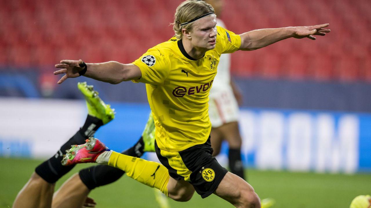 Liga Mistrzów. Erling Haaland ma 18 goli po 13 spotkaniach. Rekordowe tempo Norwega (sport.tvp.pl)