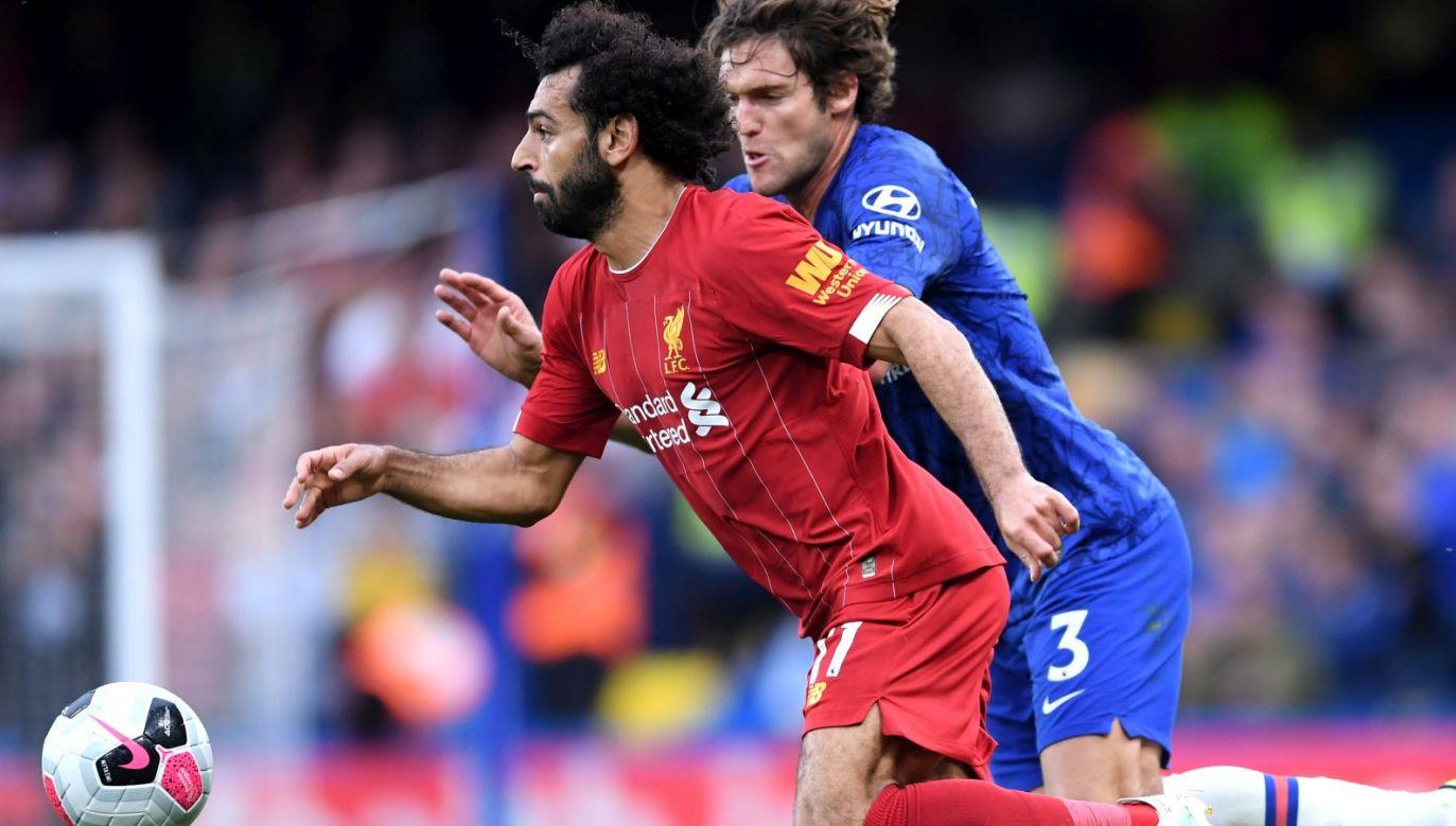 Mohamed Salah i Marcos Alonso (fot. Getty Images)