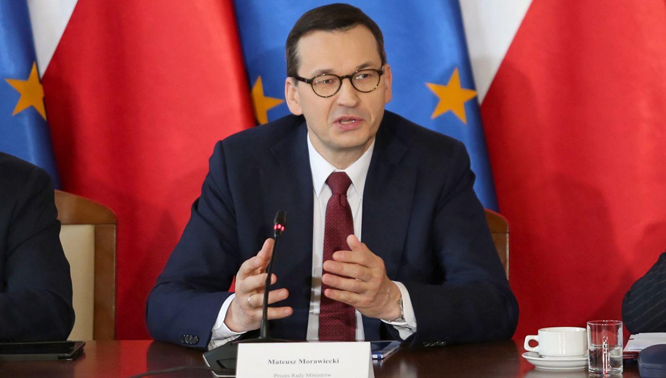 Szef rządu rozmawiał z przewodniczącym Rady Europejskiej i premierem Chorwacji (fot. PAP/Andrzej Grygiel)