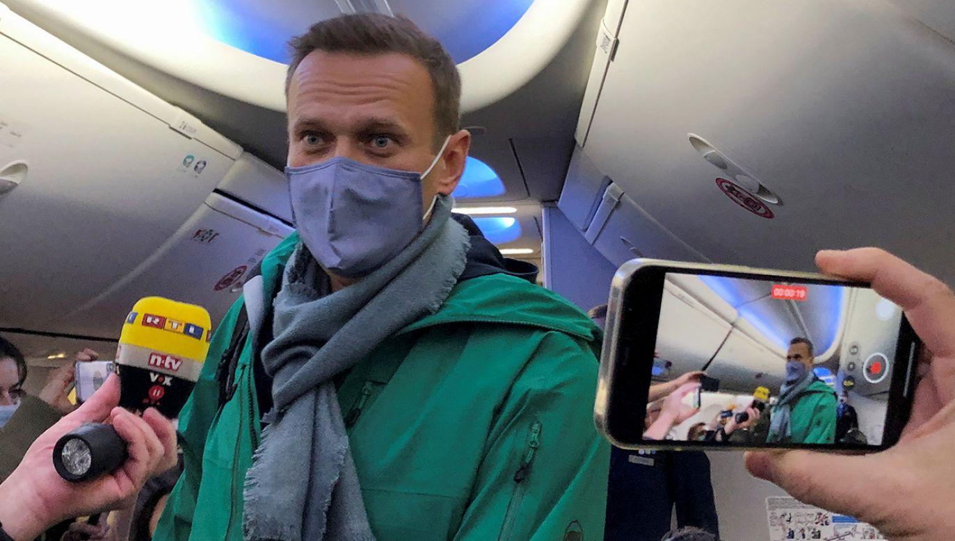 Aleksiej Nawalny podkreślił, że czuje się obywatelem Rosji (fot. REUTERS/Polina Ivanova)