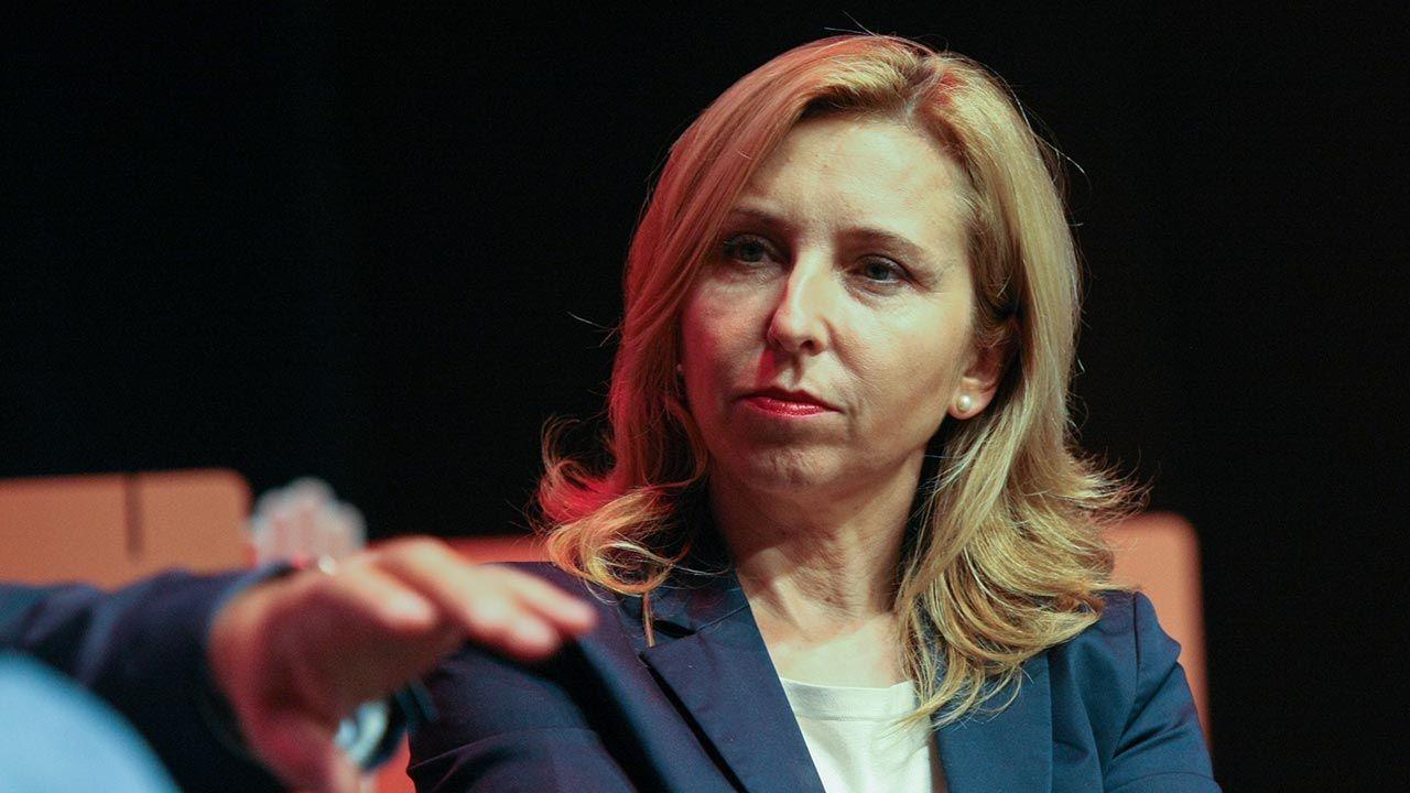 Dominika Wielowieyska broniła twardego stanowisku rządu PO-PSL w rozmowach z lekarzami (fot. Michal Fludra/NurPhoto via Getty Images)