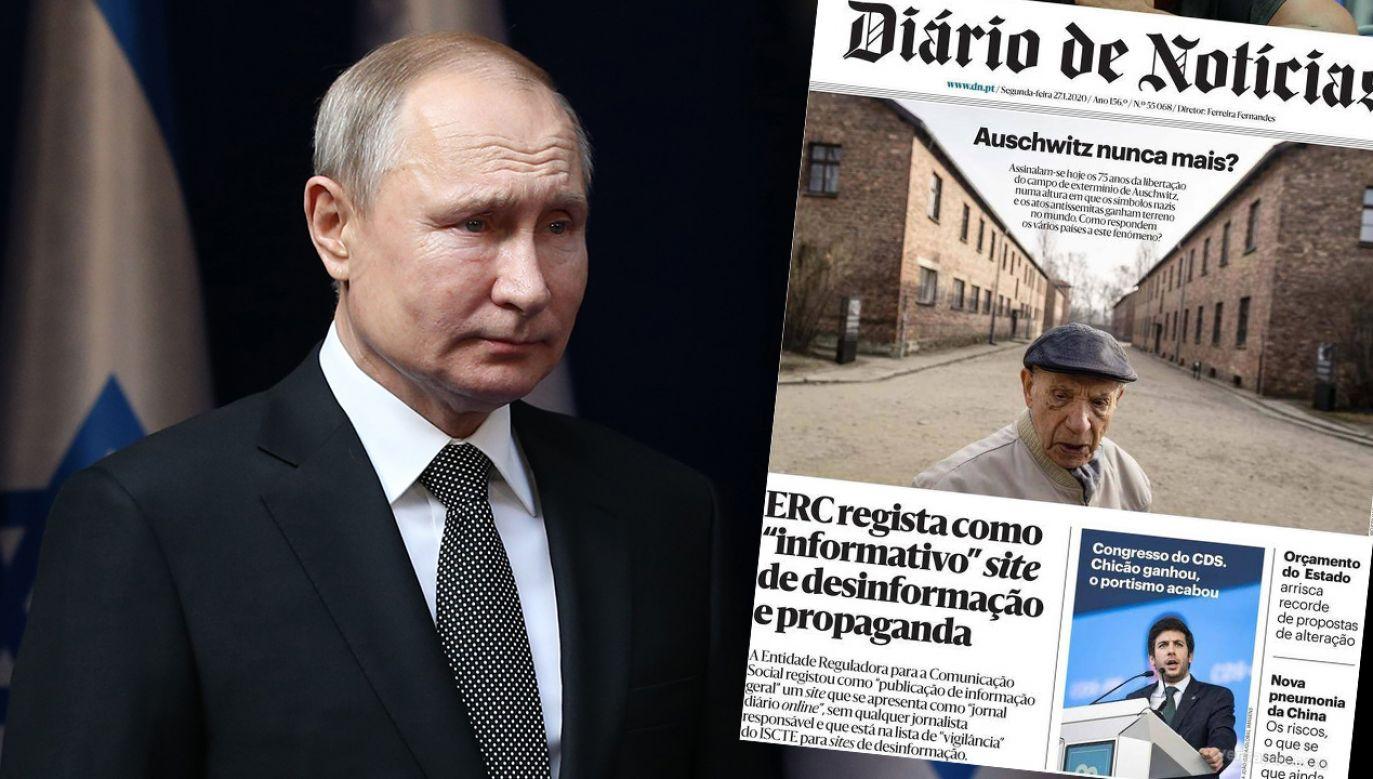 Portugalskie media krytycznie o polityce Putina (fot. Mikhail Svetlov/Getty Images)