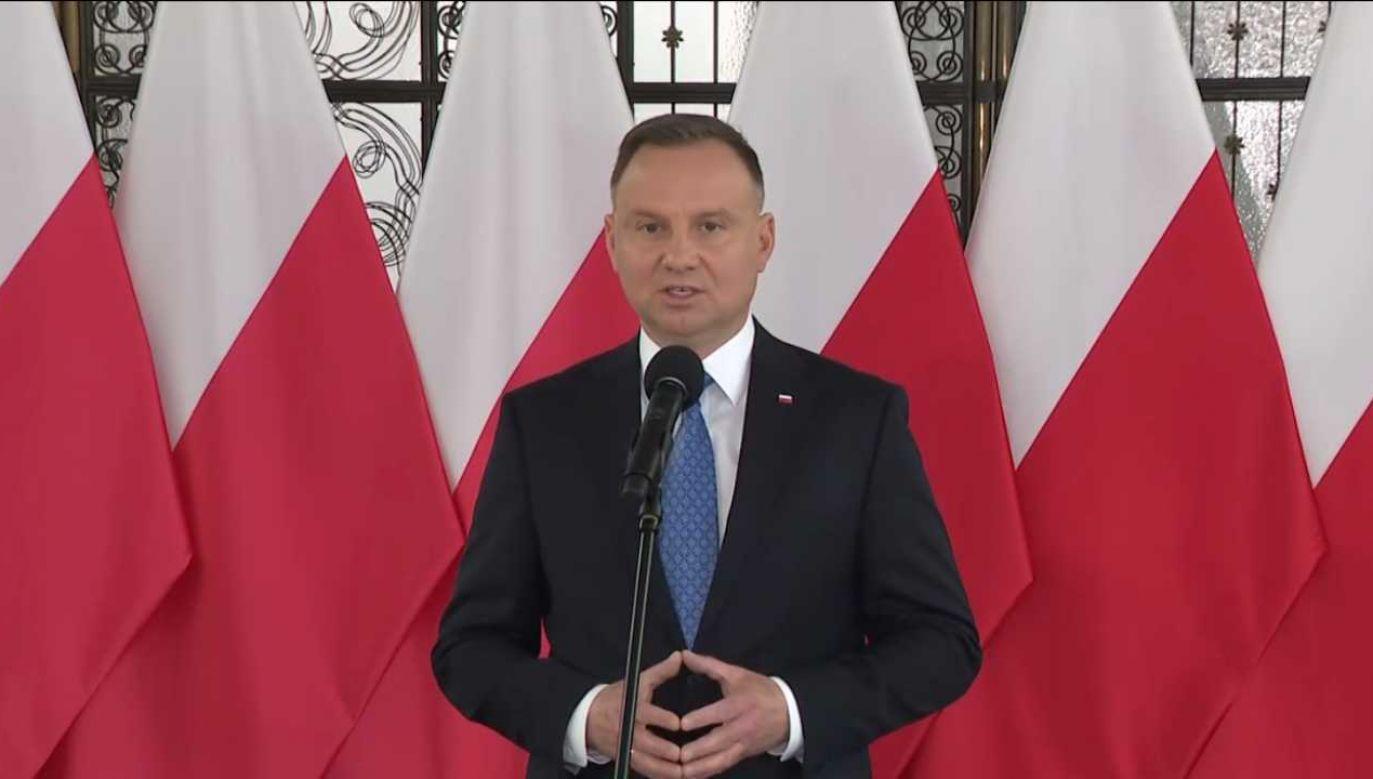 Prezydent Andrzej Duda w Sejmie (fot. tvp.info)