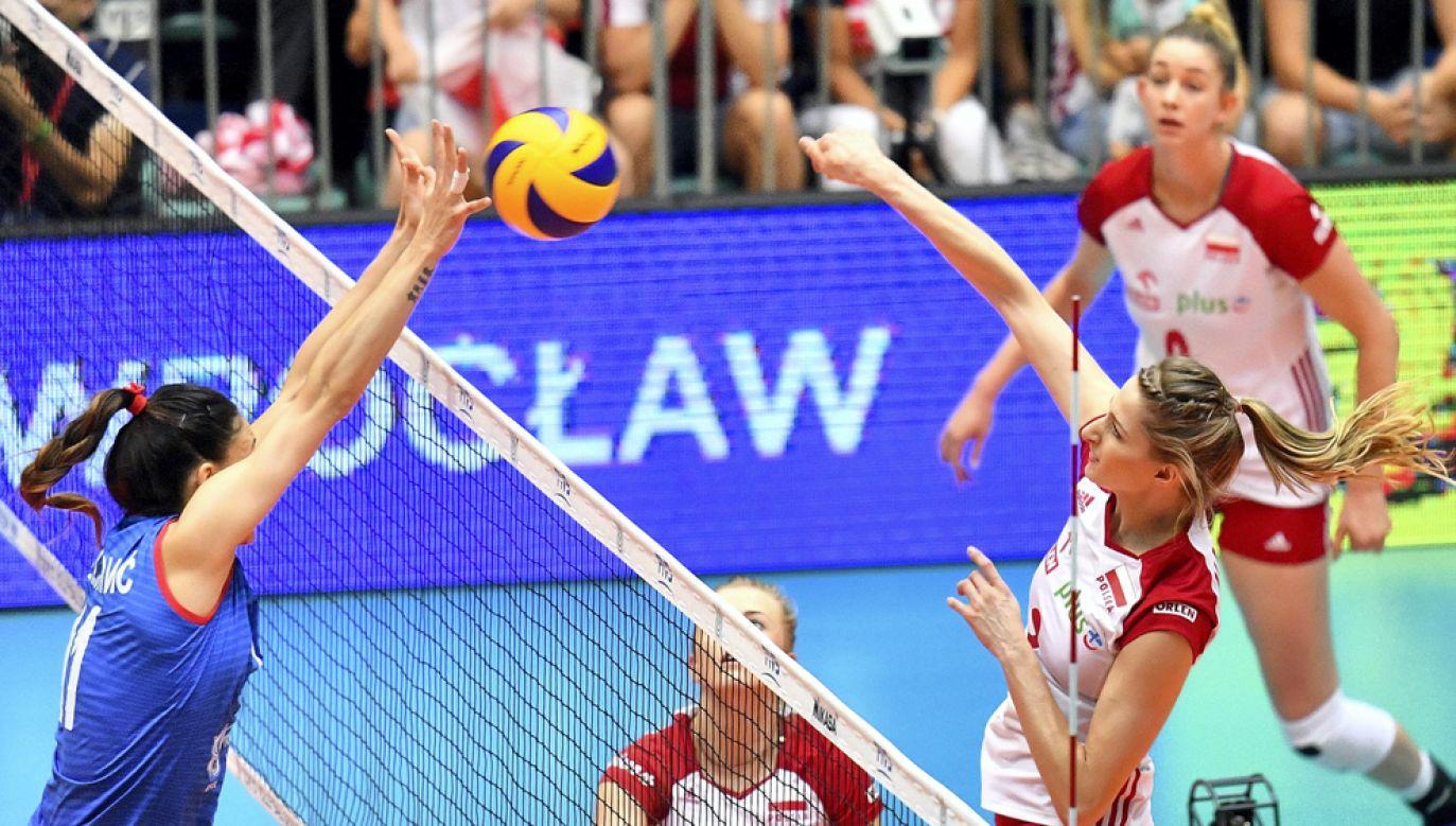 Polskim siatkarkom nie udało się wywalczyć we Wrocławiu awansu na igrzyska olimpijskie w zakończonym turnieju kwalifikacyjnym (fot. PAP/Jan Karwowski)